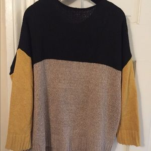 aefad4d5a6 Sweaters - Color Block Marled Knit Jumper